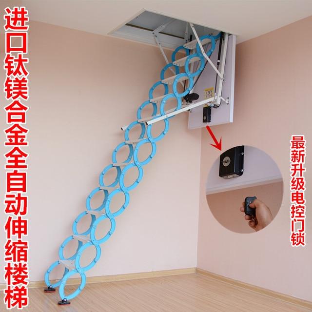 Titanium Magnesium Alloy Double Folding Attic Stair Indoor