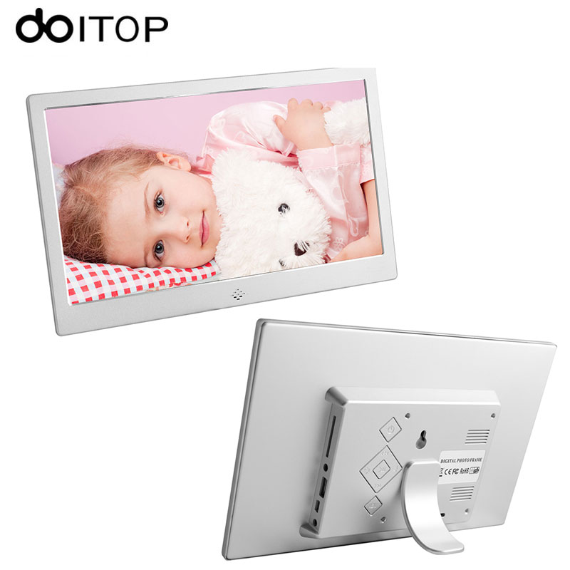 DOITOP 10 inch LED LCD Digital Photo Frame Ultrathin HD Electronic Frame Album MP3 Music MP4 Movie Player with Remote Control C4 adroit high quality 10inch hd 16 9 digital photo frame picture album mp4 video player remote control 30s61122 drop shipping
