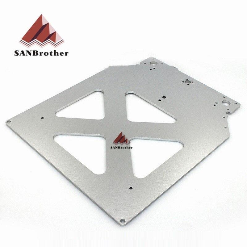 Ultimaker 2 + UM2 se 3D piezas de la impresora Z de mesa de aluminio caliente la cama de precio al por mayor