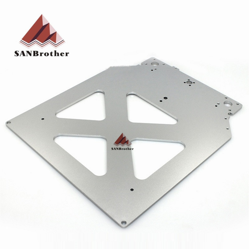 все цены на Ultimaker 2+ UM2 Extended 3D Printer Parts Z Table Aluminum Heated Hot Bed Plate Wholesale Price онлайн