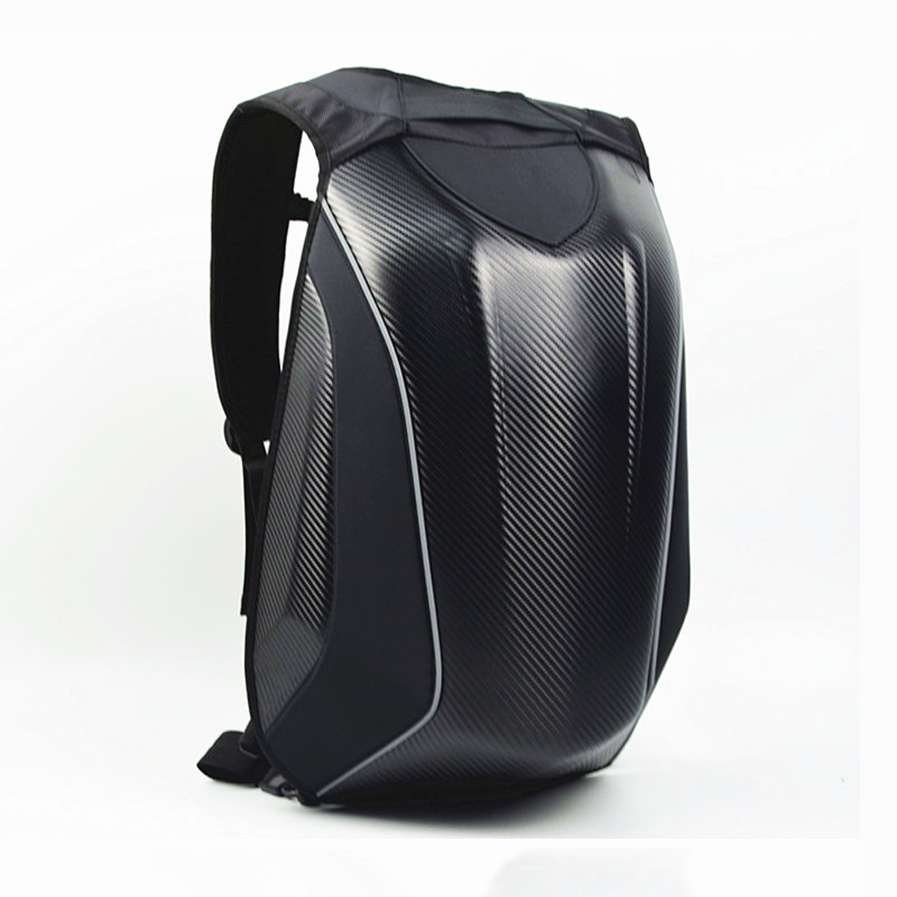 Motorcycle 30L Helmet Backpack Bag Carbon Fiber Reflective Motocross Riding Racing Bag Waterproof Motorbike Double Shoulder Bag cucyma motorcycle bag waterproof motorcycle backpack carbon fiber motocross racing riding helmet bag motorbike knight backpack