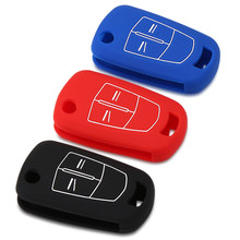 Car Key Case Silicone Remote Key Fob Cover Protection Bag Auto Accessories for Opel Corsa Astra Vectra Zafira(China)