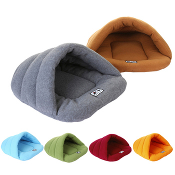 Dog Bed Kennel Fleece Winter Soft Warm Sofa Mats Rabbits Hamster Sleep Bag House Nest Pad Cat Puppy For Cats Dogs BFOF
