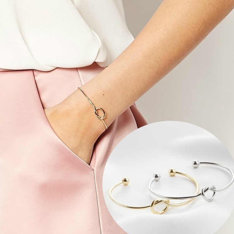 MESTILO טרנדי עניבת מסוקס פתוח קאף צמיד רוז זהב רסיס מטבע 26 אותיות ראשוני קסם צמידי חוט אהבת צמידי עבור נשים