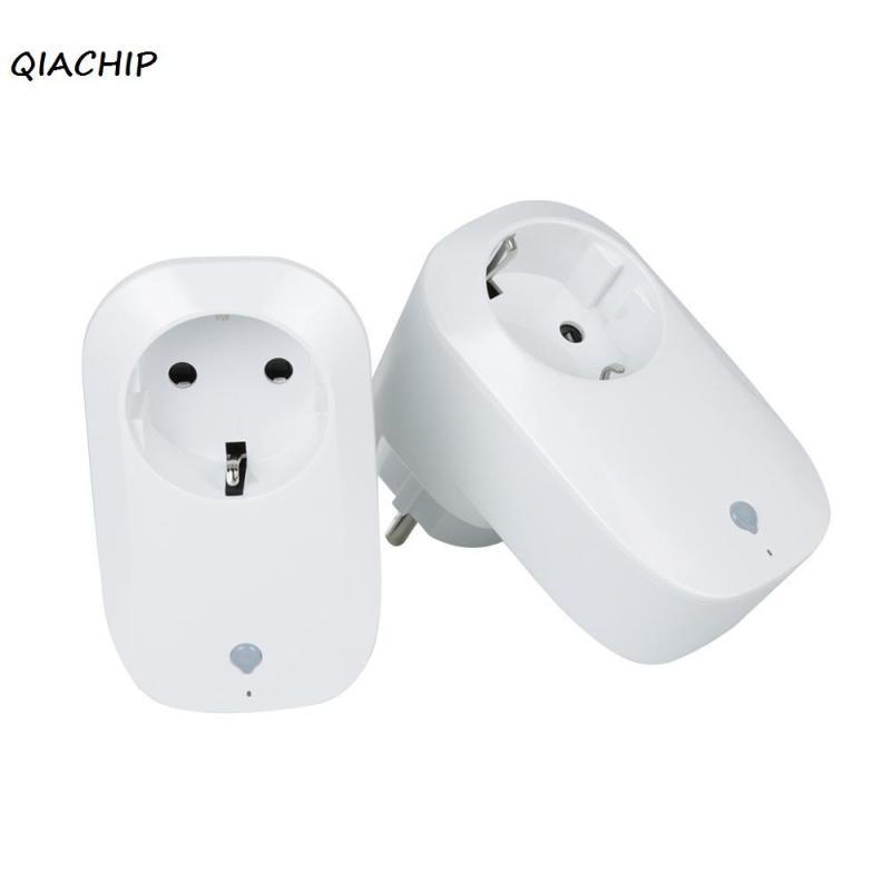 QIACHIP 2pcs Smart Wifi Wireless Power Socket Switch Remote Controls Support Amazon Alexa control by IOS Android phone EU Plug