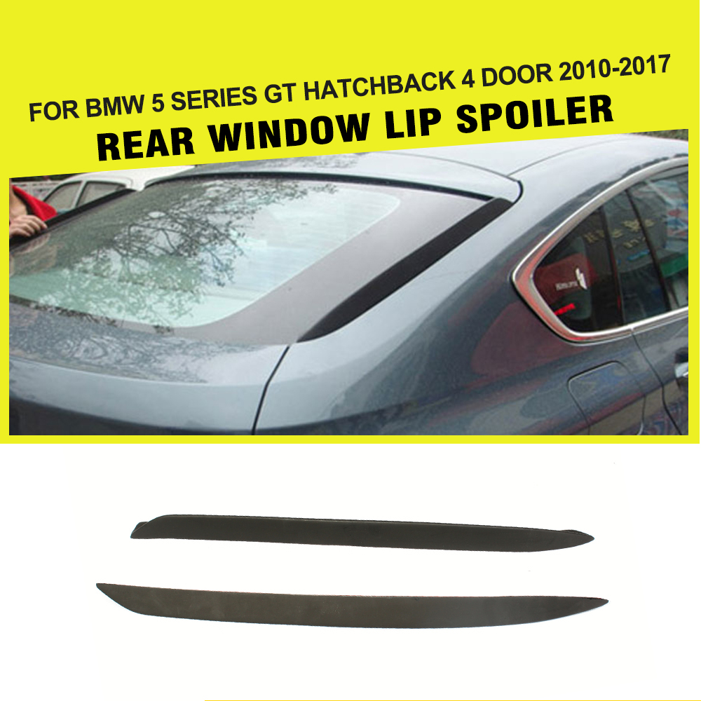 PU Auto Window Rear Spoiler Lip Wing Car-Styling for BMW F07 GT 5 Series 2010 - 2012 car styling carbon fiber auto rear wing spoiler lip for vw scirocco 2010 2012