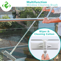1PC High rise window cleaning brush retractable glass washer home multi function cleaning tool window washer dust brush GUANYAO