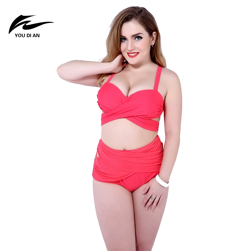 Europe and The United States Women's Two-pieces Suits Sexy Split Body Fat Plus Large Size Swimwear for Ladies Summer Bath Suits the body of the united states ya 6953864710056