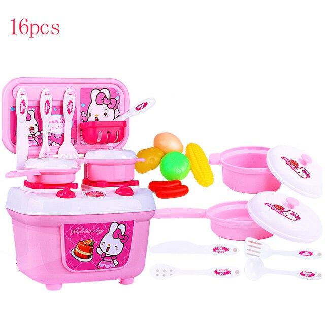 Schon Neue Kinder Spielhaus Spielzeug Geschirr Sets Baby Spielzeug Küche Kochen  Simulation Modell Glücklich Pädagogisches Küchen