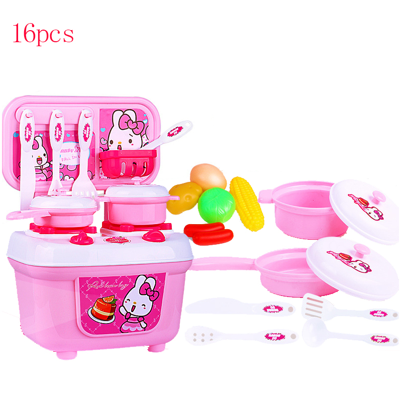 New Kids Play House Toys Tableware Sets Baby Toys Kitchen Cooking Simulation Model Happy Educational Kitchen Pretend Play Toys
