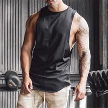 50dc74585 Los hombres de gimnasios de culturismo Fitness sin mangas camiseta sin  mangas chaleco tanque ropa de