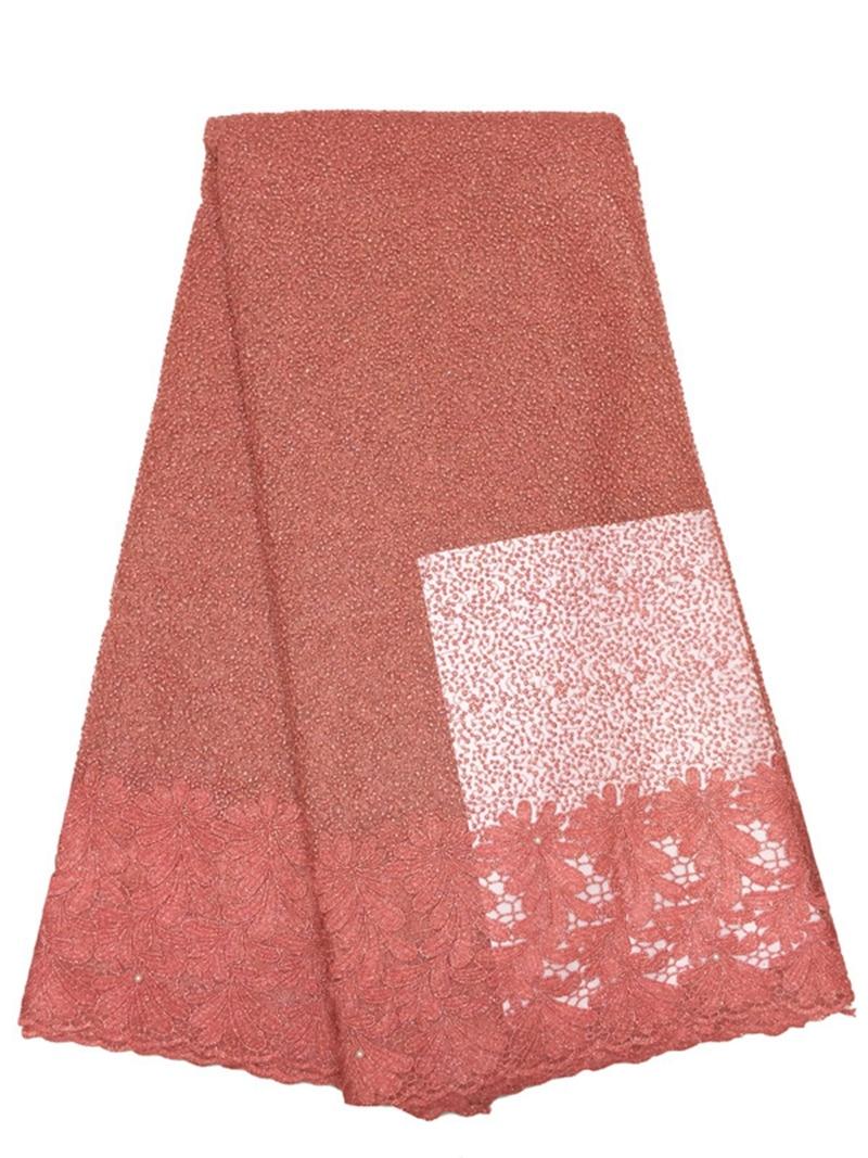 ̀ •́ Color rosado más nuevo del cordón con los granos tela guipure ...