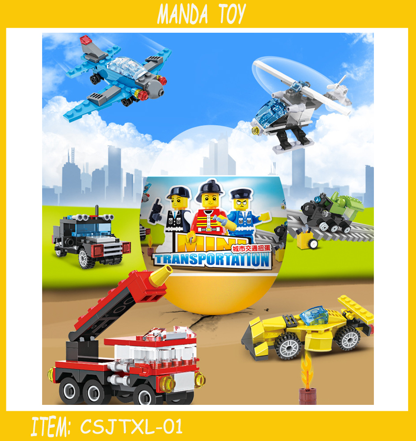 Classic City Traffic Series Building Blocks Diy Assemble Bus Car Toys Compatible With Leg.o Sets Baby Enlighten Gift Bricks Up-To-Date Styling