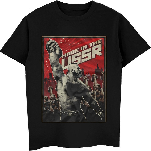 bbccb6d0 Ussr T-shirt Russia Cosmos Communism T-Shirt Summer Style Cool Shirts Men's  Cotton T Shirt Hip Hop Tees Top Harajuku Streetwear