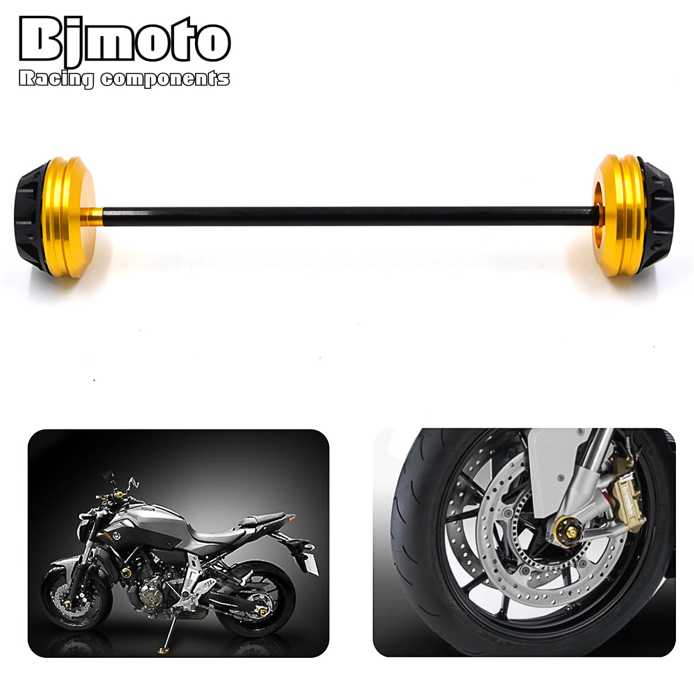 Motorbike Front Axle Fork Crash Sliders Protector Cap Falling Protection For YAMAHA MT-07 MT07 2013 2014 2015 2016 2017 цена 2017