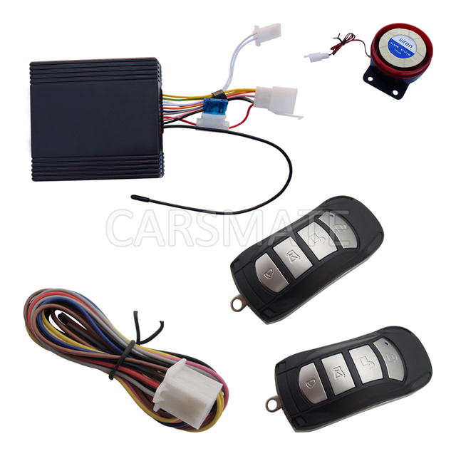 Universal One Way Motorcycle Alarm System With Remote Engine Start & Cut Off Anti Hijacking Remote Control With Four Buttons