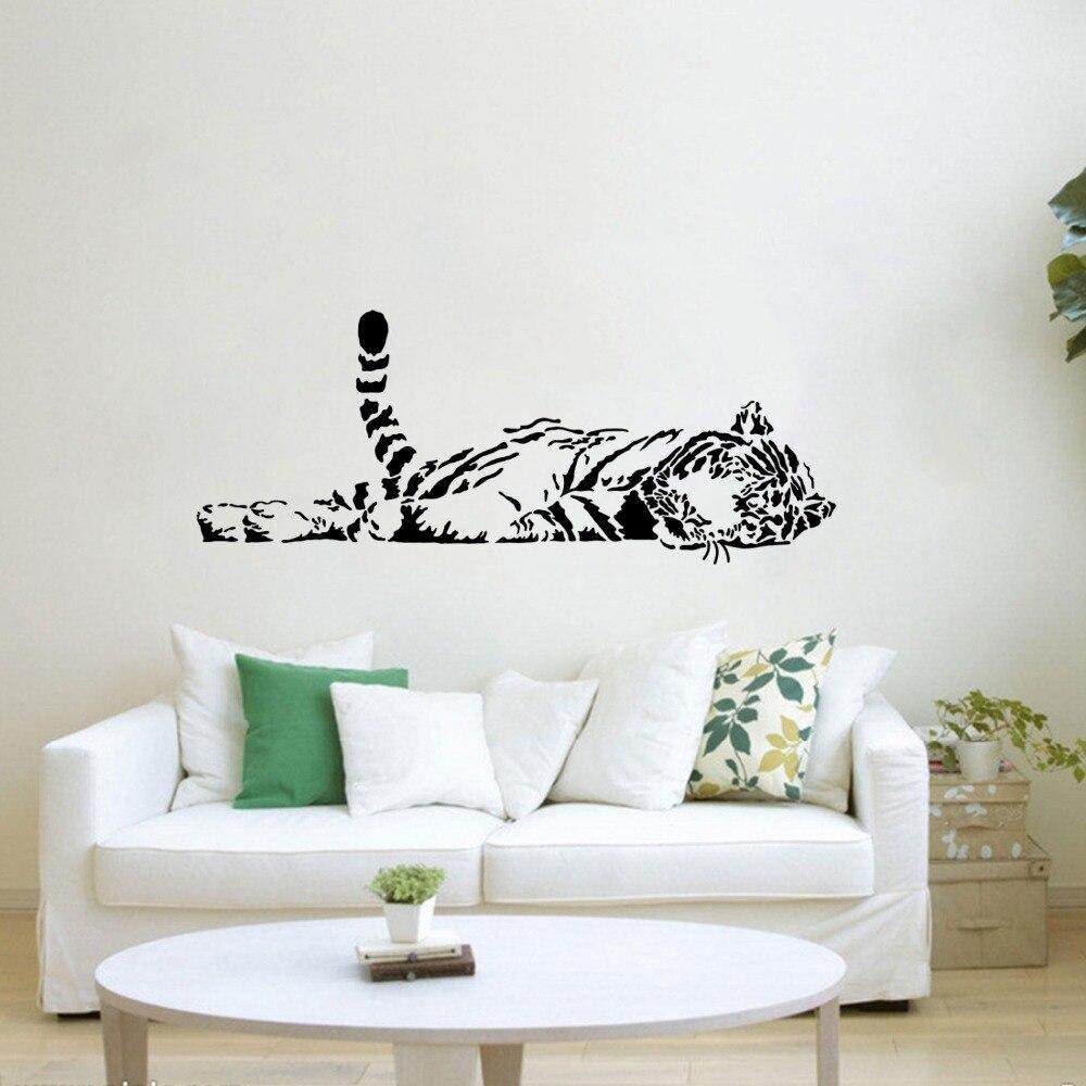 Sleep Tiger Wall Decal Vinyl Art DIY Sticker Zoo Safari Animal House ...