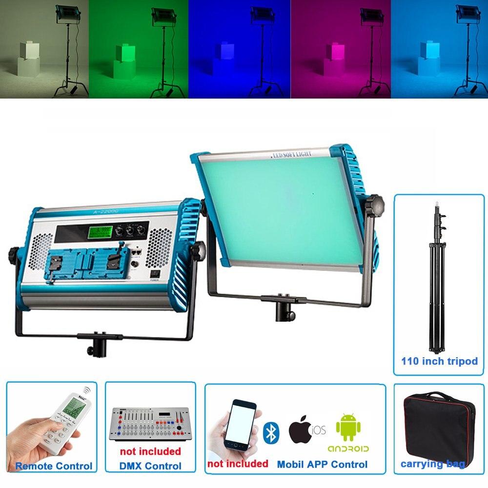 Yidoblo RGB LED Lamp APP & Remote Control RGB Soft LED Lamp Photography Continuous Light Set For Photo Studio Video Film