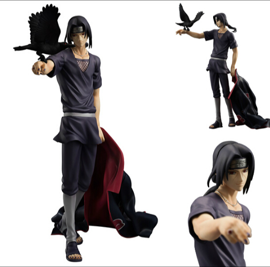 NARUTO PVC Action Figure Uchiha Itachi Figure Toys Juguetes 230MM Japanese Anime Naruto Uchiha Itachi Collectible Model Toy N16 pu short wallet w colorful printing of naruto shippuden uchiha itachi