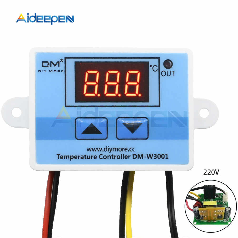 W3001 110V 220V Digital Suhu Controller Thermostat Thermo Incubator Heater Regulator AC-DC Transformer Terisolasi Power