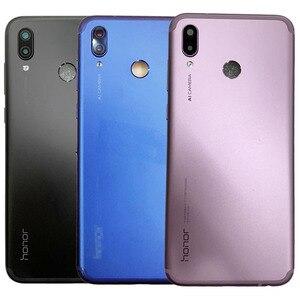 Para Huawei Honor Play Caso Tampa Da Bateria de Volta Habitação Porta Traseira Tampa Da Bateria + Botão De Volume de Energia + Lente Da Câmera