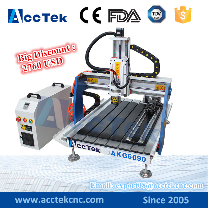 acctek 4 axis cnc router engraving machinery 6090 mini pcb cnc drill router machine for sale ly cnc router 6090 l 1 5kw 4 axis linear guide rail cnc engraving machine for woodworking
