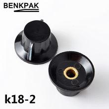 K18-2 WTH118 WX112 WX111 chapéu botão potenciômetro baquelite cobre núcleo 6 MM furo de orelha