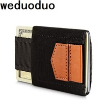weduoduo Brand ID Card Holder Fashion Mens Credit Portable Slim Wallet Business Case Coin Pocket