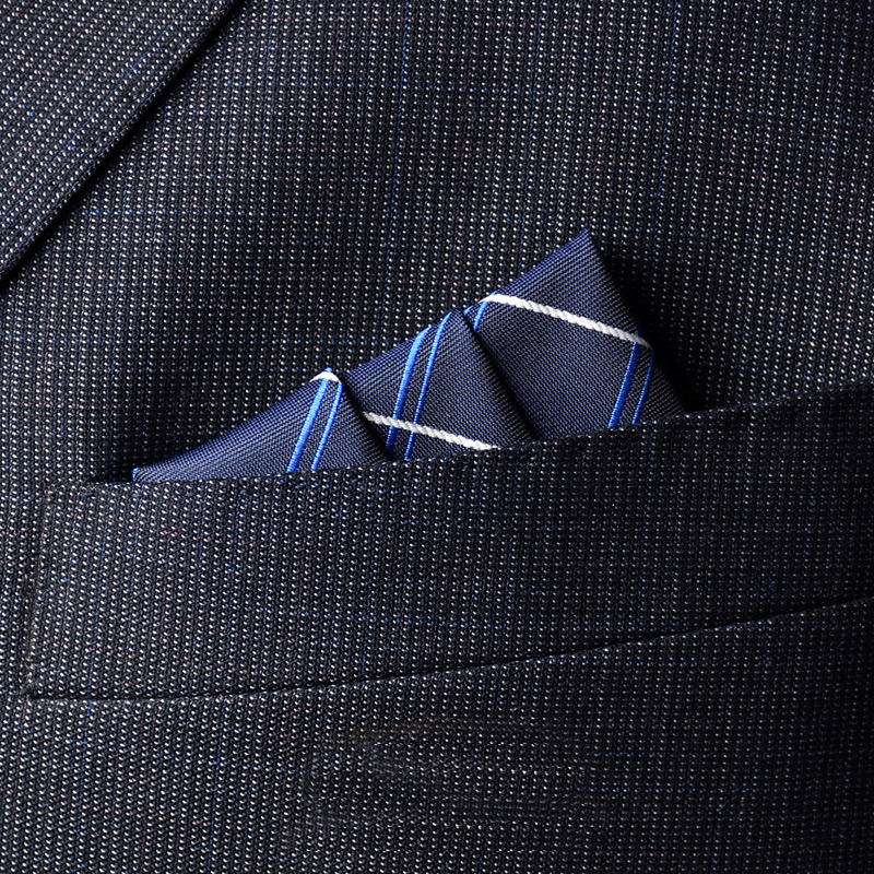 Business Casual Men's Pocket Towel Foldable Handkerchief 23cm Fashion Business Professional Dress Decorative Pocket Towel