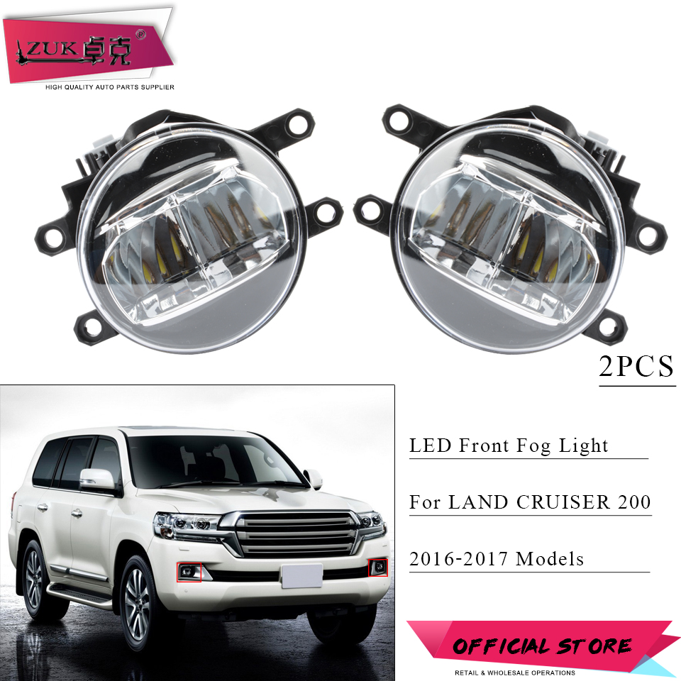 ZUK 2PCS Front LED Fog Light Lamp For LAND CRUISER PRIUS CAMRY For LEXUS CT200H IS250