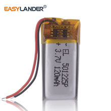 120mAh akumulator litowy wielokrotnego ładowania do mp3 501225 małe baterie do słuchawek jibiel słuchawki xiaomi mi sport