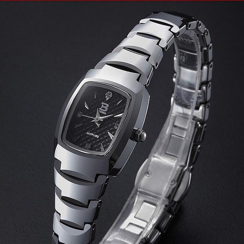 Новинка Binger Relogio Feminino Модные кварцевые женские часы из вольфрамовой стали женские сапфировые Роскошные Брендовые женские наручные часы