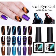 LEMOOC 8ml Nail Polish Magnet 5D Cat Eye Soak Off Semi Vernis Permanant Holographic Glitter UV Gel Lacuqer LED Varnish