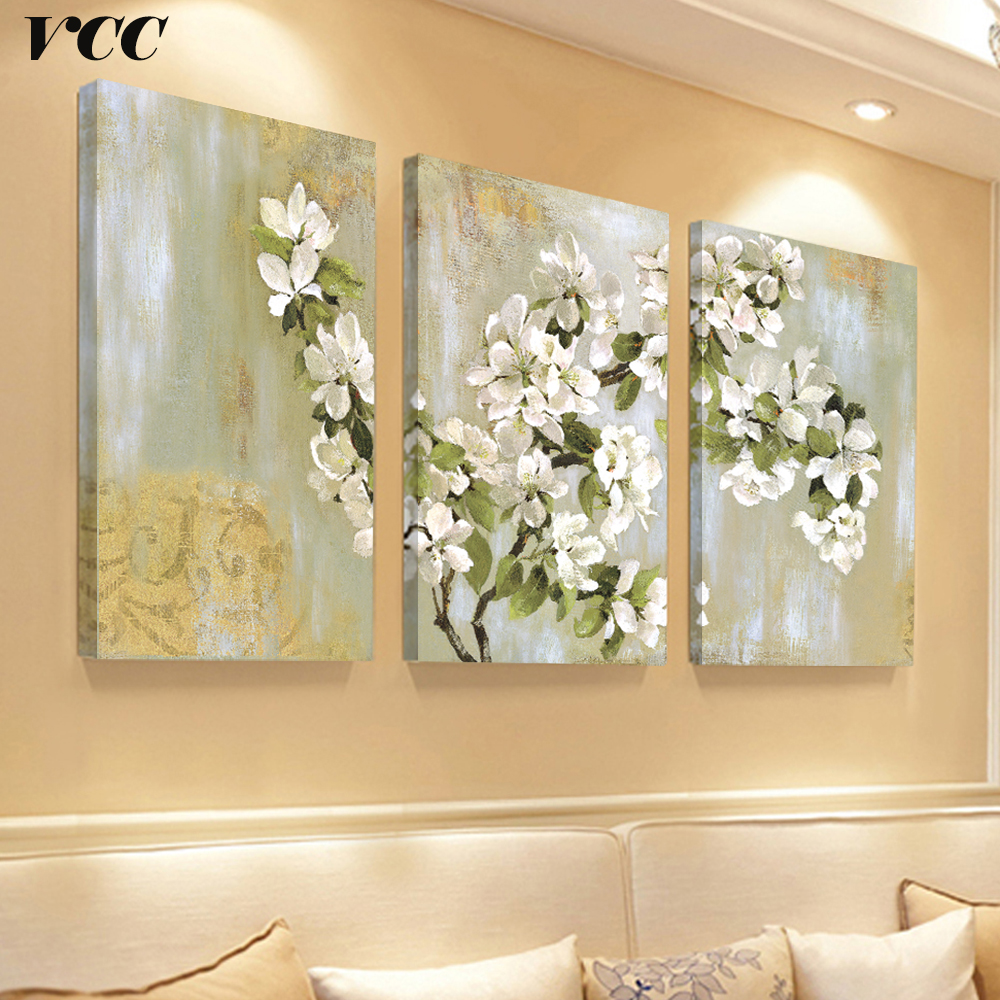 Arte de la pared Pintura de la Lona Cuadros Decorativos Apple Flower Picture Wall Pictures For Living Room Poster Decoración para el hogar