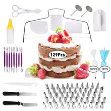 Nozzle Pastry Cake-Decorating-Supplies Turntable Piping-Tip DIY Bag-Set 129pcs/Set