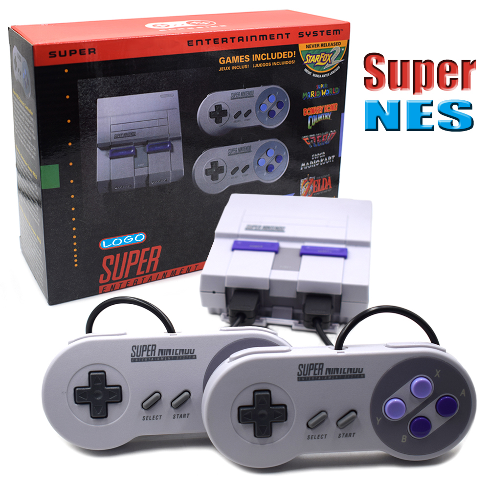 SNES Super HD HDMI Output Retro Classic Handheld Video Game Player TV Mini Game Console Built-in 21 Games ...
