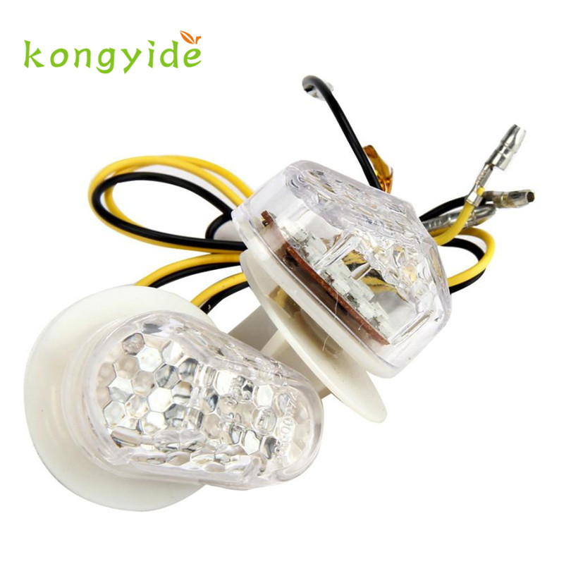 Hot Easy Installation Motorcycle Bike LED Turn Signals Amber Indicator Light Flasher DC12V oct1