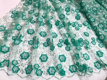 French Tulle Lace High Quality 3d Flower Lace Fabric New 3d Tulle Lace Fabric Hot 3d Applique Lace Fabric for Wedding D NA559B-3