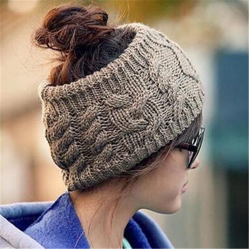 New Designer Green Color Fashion Korean Winter Warm Women's Braided Knit Wool Hat Cap Hair Band Wholesale --0449 qiu dong korean fashion personality joker empty hat knitting wool hair hoop headband