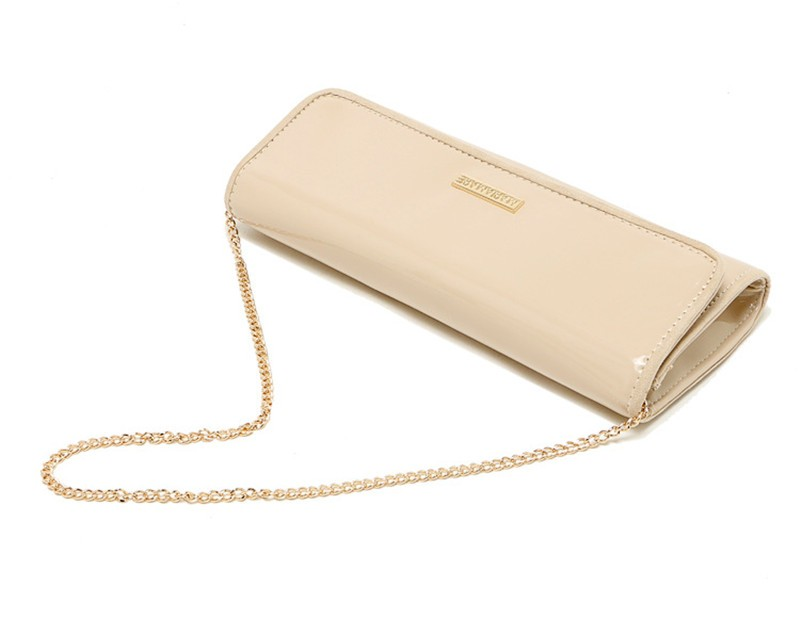 New Elegant Pure 3 Color Dinner Banquet Bag PU Leather High Quality Evening bag with chain HBF37 (19)