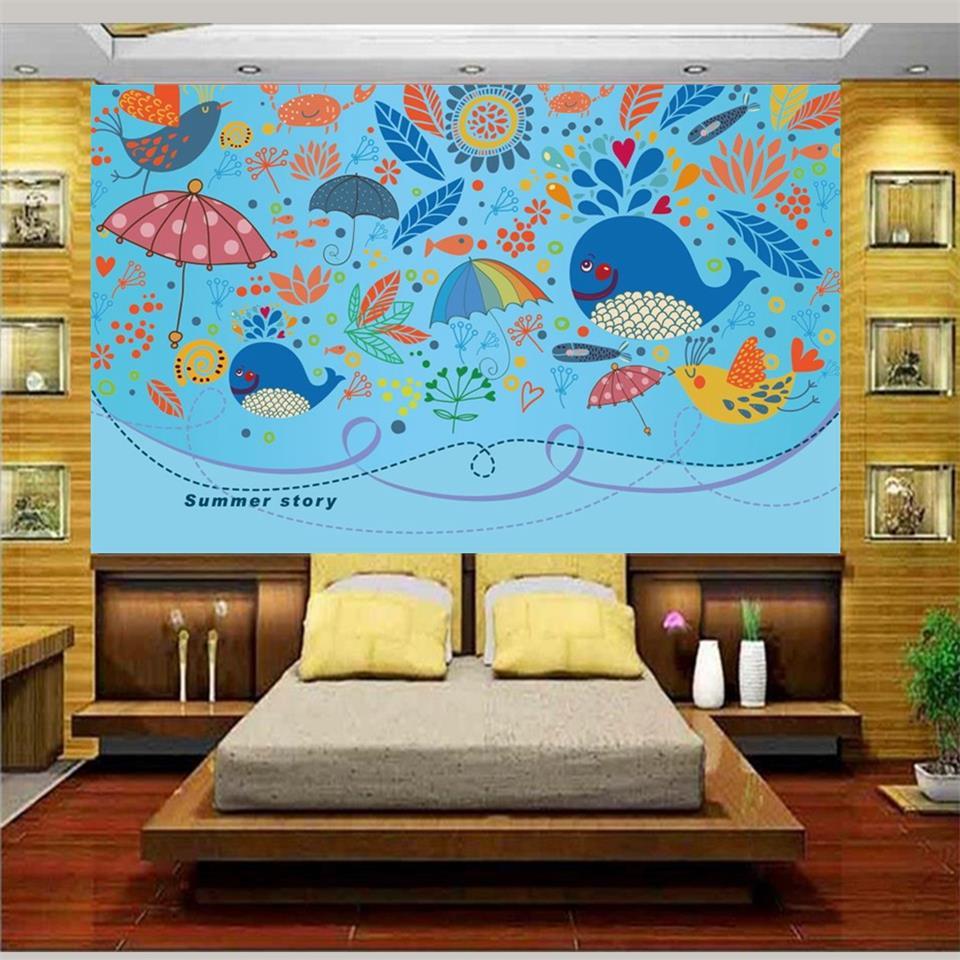 3d Foto Papel Pintado Sala Ni Os Custom Mural De Dibujos Animados  -> Sala En Ingles Dibujo