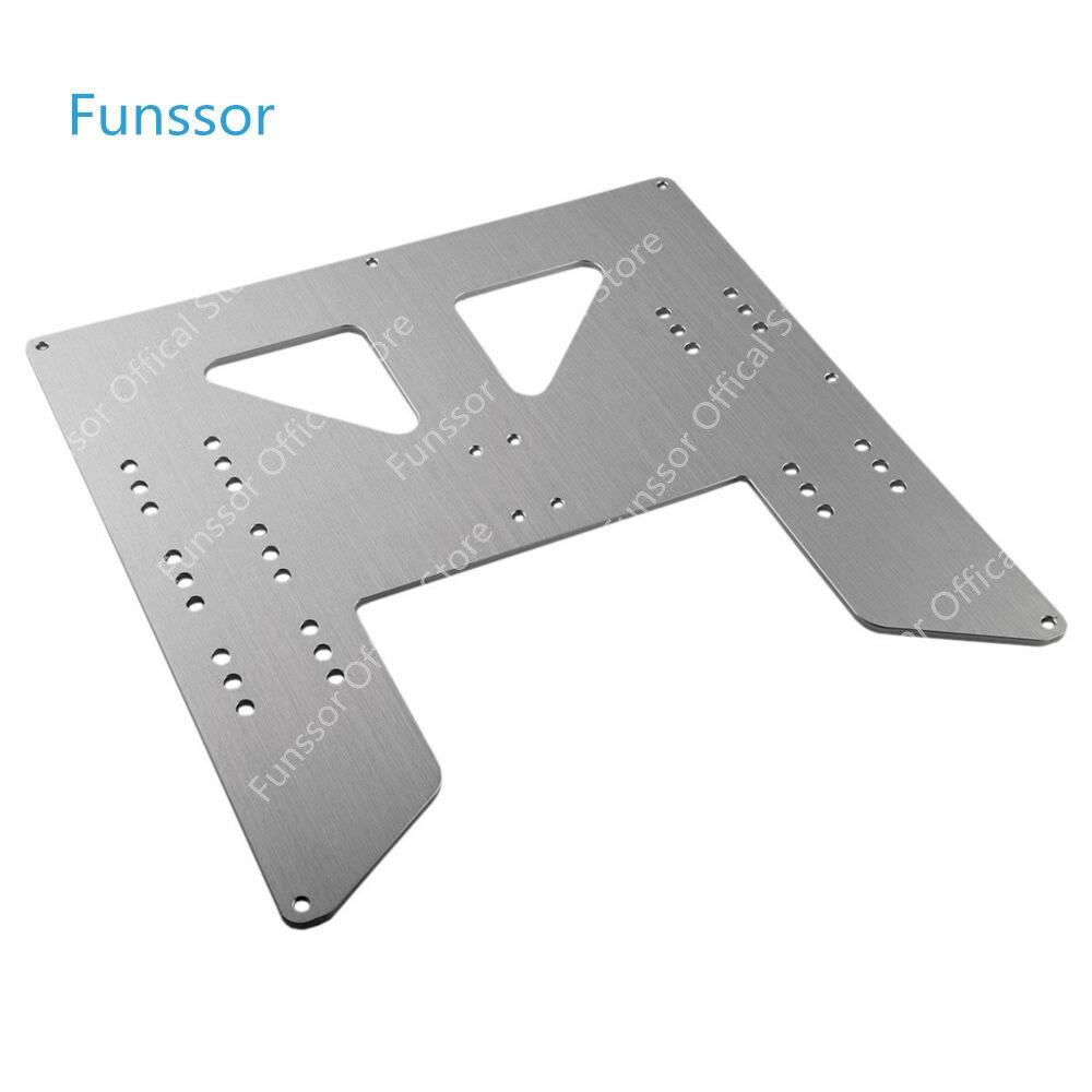Funssor Anet A8 A6 3D de actualización Y de transporte de aluminio anodizado de Anet A8 Y transporte de actualización de placa
