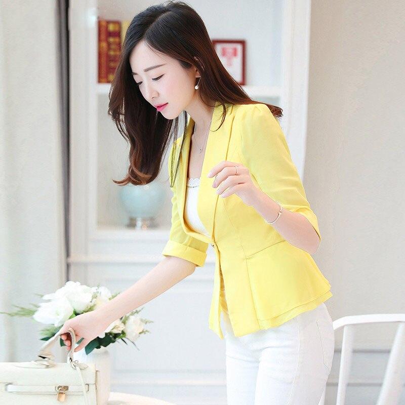 Elegant Female Summer Thin Suits Plus Size 3xl 4xl 4xl Women Office Blazer Blue Orange Slim Fit Breathable Blazer For Work Ma088 Latest Fashion Suits & Sets
