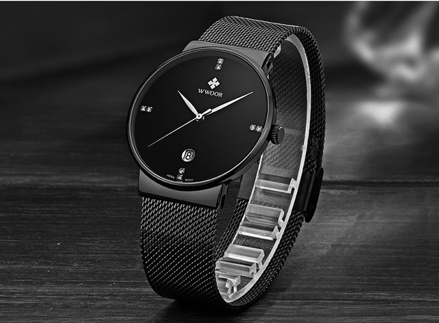 Waterproof Ultra Thin Dial Men's Watches 5