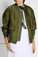 2016 new wild loose military green loose casual short jacket female trend