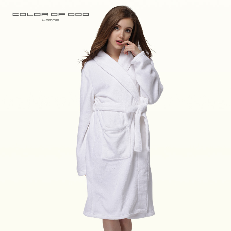 Underwear & Sleepwears Efficient Women Men Thick Warm Long Flannel Bathrobe Big Size Kimono Bath Robe Winter Female Male Dressing Gown Bridesmaid Robes Solid Xl Robes