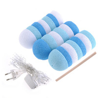 20 LEDS Sweet Skyblue Color Scheme Cotton Balls With LED Light String Light Fairy For Wedding