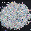 CCBLING New 1440pcs/bag 1.3mm Many colors Zircon Rhinestones Micro Rhinestones Mini Nail Art Rhinestones Nail Decorations
