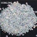 CCBLING Novo 1440 pçs/saco 1.3mm Muitas cores Zircon Pedrinhas Micro Pedrinhas Mini Nail Art Pedrinhas Decoração de Unhas
