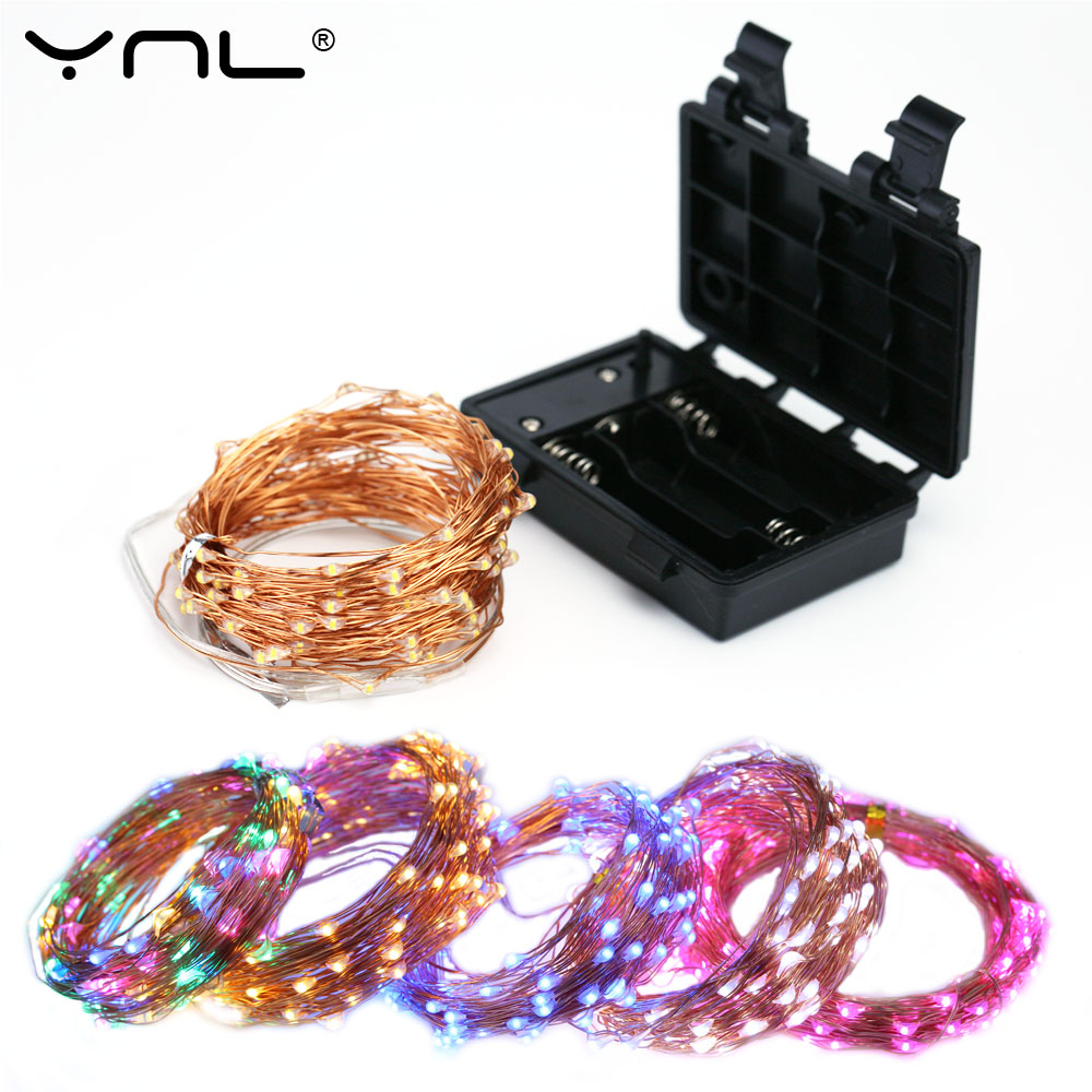 Christmas LED String Lights Waterproof 10M 100 Leds Case 8-Modes Copper Wire Party Wedding Decoration Flasher Fairy Lights